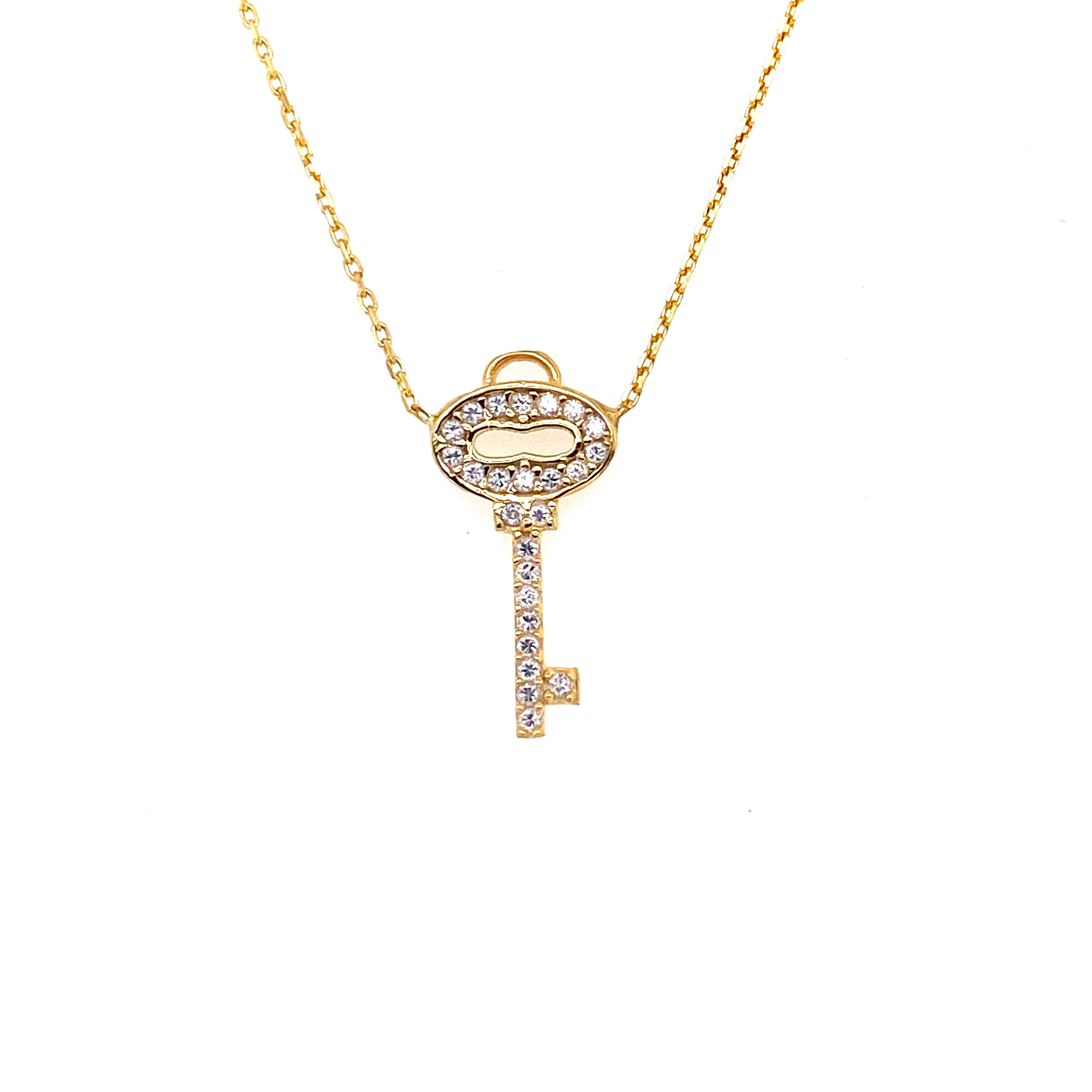 925 Silber Halskette | Schlüssel zur Liebe