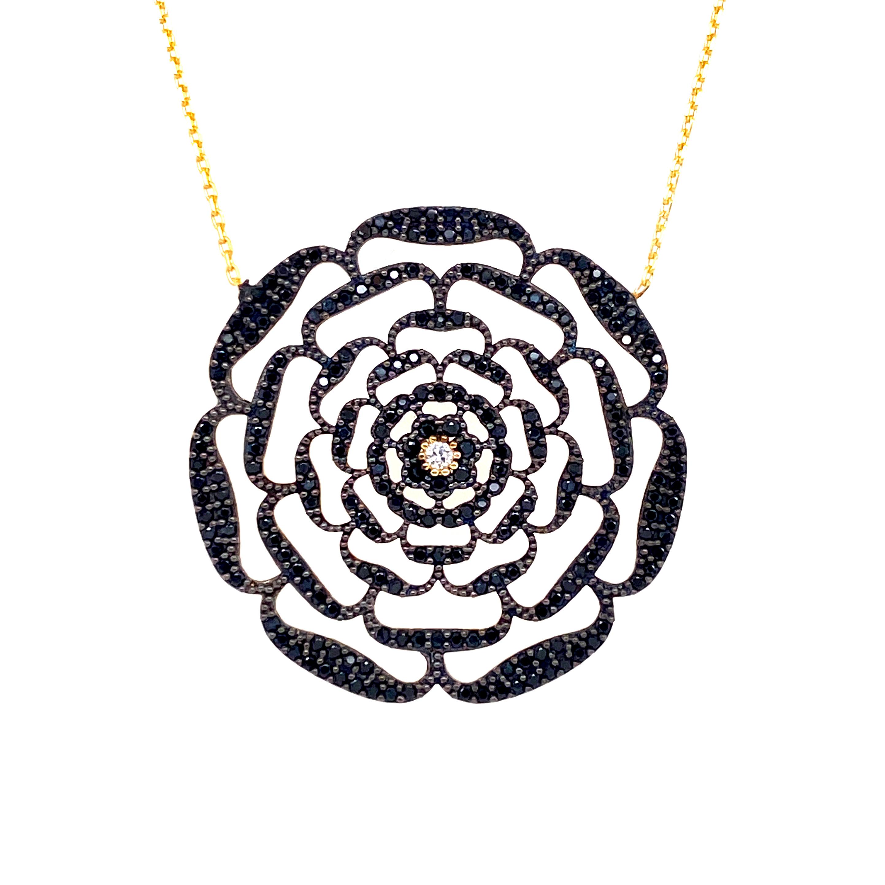 925 Silber Halskette | Blume